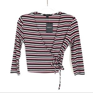Forever 21 | Striped Wrap Cardigan